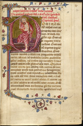 Historiated initial With The Resurrection, In A Miscellany From Ely